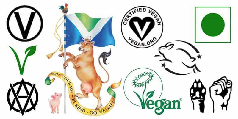 vegan symbols and vegan logos